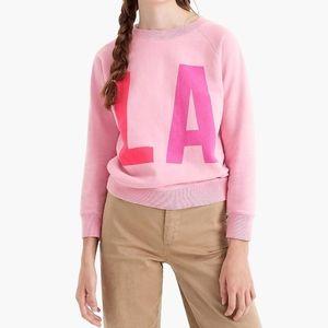 J. Crew Romance Pink LA Sweatshirt, M